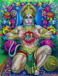 hanuman showing his heart